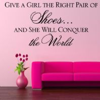Give a Girl the Right Pair of Shoes 02  Wall sticker / decals